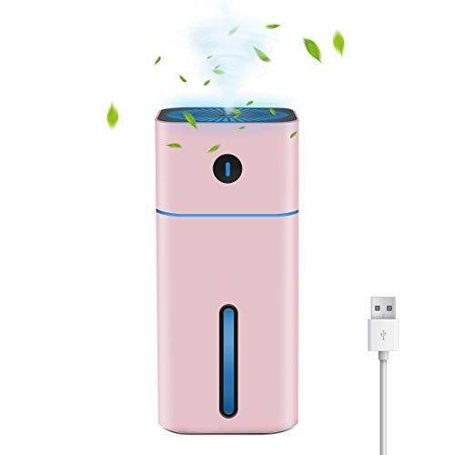 Mini USB Ultraschall Luftbefeuchter, EIVOTOR 180ML Air Humidifier Diffuser Raumbefeuchter Desktop Luftbefeuchter mit 7 Farben Nachtlicht Abschaltautomatik Tragbarer für Baby Auto Kinderzimmer Büro