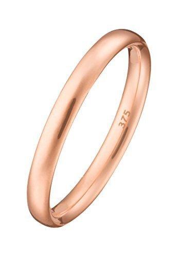 CHRIST Gold Damen-Ring 375er Rotgold rosé, 60 (19.1)
