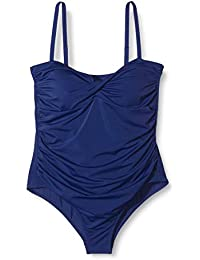 Amazon-Marke: Iris & Lilly Damen Shaping-Badeanzug mit Wickeldesign