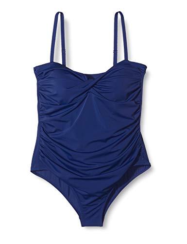 Marca Amazon - IRIS & LILLY Sh180457 bañadores, Azul Harmony Blu, 44 Talla del fabricante: X-Large...
