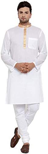 NEUDIS by Dhrohar Cotton Long Kurta & Churidar Pajama Set For Men - W