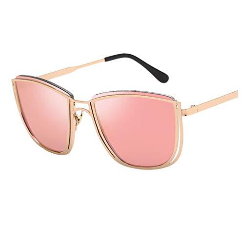 Rosennie Unisex Vintage Sonnenbrille Mode Retro Eyewear Fashion 100{ed8f5b8e17531bbd4beebbecbdc2a84ffaf1fb6116fbb43a07f448de2190ddba} UV400 Schutz Fahrer Brille Metallrahmen Rund Polarisiert Damen Herren Sonnenbrille Sunglasses Nachtsichtbrille