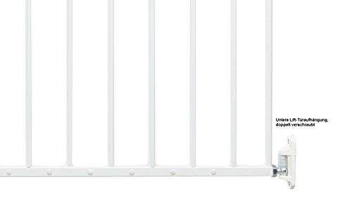 Impag Türschutzgitter Absperrgitter zum Schwenken 88 – 140 cm Astor Weiß - 6