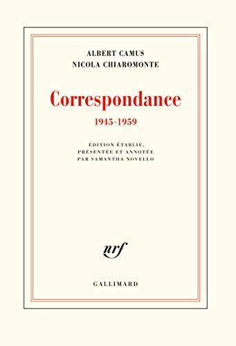 Correspondance: (1945-1959) par Albert Camus,Nicola Chiaromonte,Samantha Novello
