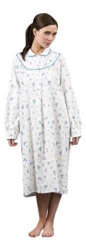 womens-lady-olga-100-wincyette-cotton-floral-nightie-nightdress-nightshirt-maroon-22-24