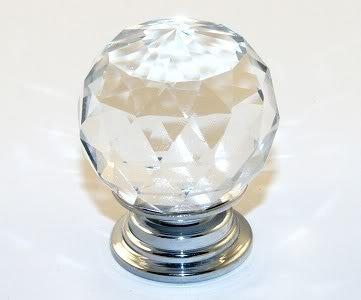 Domire Crystal Glass Cupboard Door Drawer Knobs - inexpensive UK light shop.