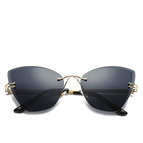 FUZHISI Sonnenbrillen Eye Sonnenbrillen Frauen Persönlichkeit Randlose Männer Sonnenbrillen UV400 Sonnenbrillen, Schwarz