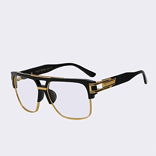 CCGSDJ Halbmetallrahmen Männer Sonnenbrille Klassische Retro Vintage Sonnenbrille Frauen Markendesigner Sonnenbrille Frauen Top Qualität