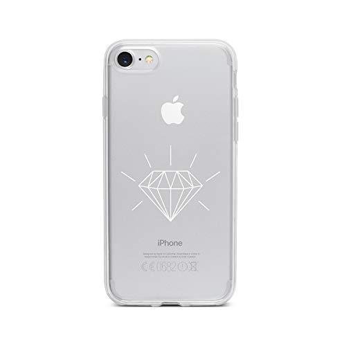 licaso Apple iPhone 8 Handyhülle Smartphone Apple Case aus TPU mit Diamond 3D Print Motiv Slim Design Transparent Cover Schutz Hülle Protector Soft Aufdruck Lustig Funny Druck (Verlobungsring Protector)