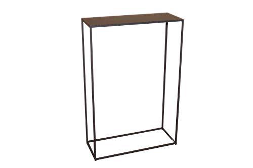 CALEIDO Konsolentisch Sideboard Beistelltisch Konsole Flurtisch Mali Metall Dunkelbraun Höhe 75 cm
