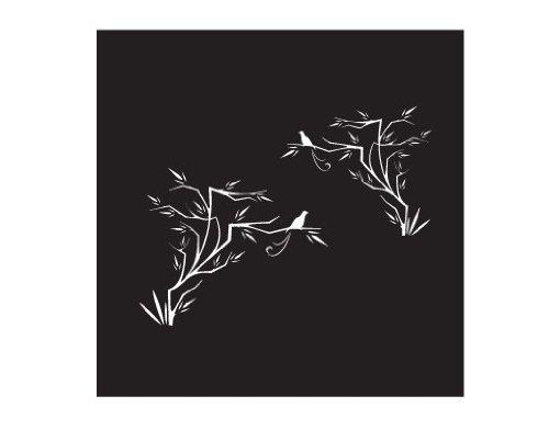 Apalis Rollo No. 112Japanischer Vogel II Selbstklebende Sichtschutzfolie 5Farben Fenster Film Folie Glas Décor Blickdicht Badezimmer Glas Film Farbe: erfrischendes Minz, Maße: 80cm x 80cm