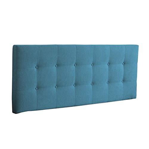 Uus Bedside Cushion, Kopfteil Pads Cover Bett Wedges Rückenstütze Taillenkissen Leinen Soft Case Waschbar Bett Kissen einfach mit Kopfteile/Keine Kopfteile 4 Größen (blau) Pillow (Kopfteile Doppelbett)