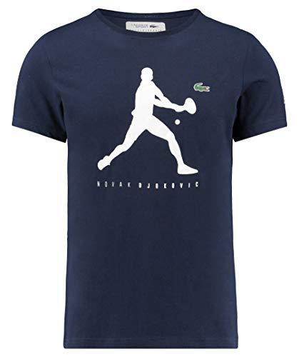 Lacoste Sport Herren Tennisshirt Djokovic Kurzarm Marine (300) S -