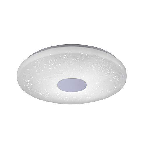 LED Deckenleuchte, IP 20, Ø60cm, dimmbar mit Fernbedienung, Deckenlampe, rund, Farbtemperatursteuerung, Sternenlicht