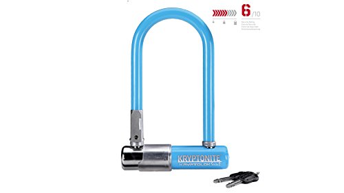 Kryptonite Fahrradschloss KryptoLok 2 Mini-7 Light Blue, Light Blue, 8, 2 x 17, 8 cm, 3500349