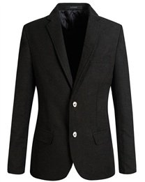 Breasted Blazer (Stylish Two Button Slim One Breasted Casual Men Black Blazers Sport Coats)