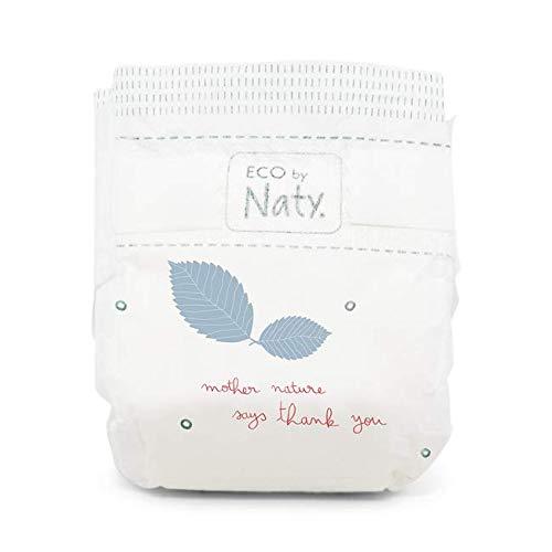 NATY by Nature Babycare 8178358B Eco by Naty Premium Bio-Windeln für empfindliche Haut, Größe 1, 2-5kg, 4 Packungen à 25 Stück (100 Stück insgesamt), weiß - 3