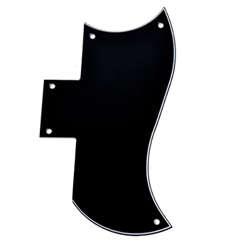 Kmise Guitar Pickguard For Gibson SG Standard parts replacement 3 Ply Black