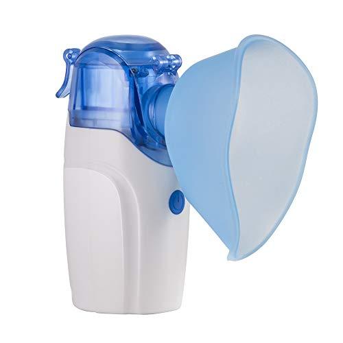 YHMMOO Tragbarer Inhalator Vernebler Geräuscharmes mit Mundstück und Maske und Medizinbecher für Kinder und Erwachsene Wirksam bei Atemwegserkrankungen,White