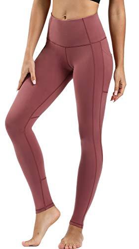 Persit Persit Damen Leggings, Sport Tights Leggins Yogahose Sporthose Fitnesshose für Damen Dusty Rose-XS