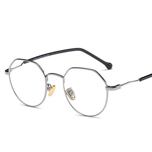 ZYY Anti Blue Light Brillen , Nicht Verschreibungspflichtige Polygonale Unregelmäßige Brillengestell , Augenschutz , Unisex (Farbe : C)