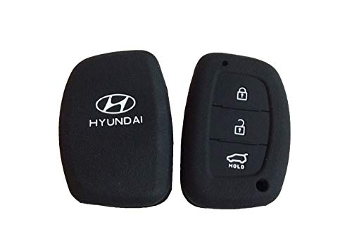 SFK Silicone Key Cover For Hyundai Creta, I20 Elite / Active, Grand I10, New Verna, Xcent Smart Key (For Push Button Start Only)