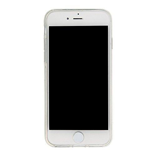 """MOONCASE iPhone 7 Coque, Glitter Sparkle Bling Liquide Transparent Étui Coque pour iPhone 7 4.7"""" Soft TPU Gel Souple Case Housse de Protection Or Pink Bear"""