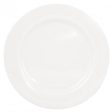 Assiettes en mélamine 254mm Kristallon Couleur : blanc. 254(Ø)mm. Boîte de 6.