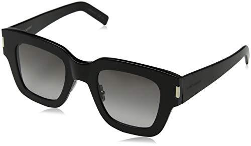 Saint Laurent Unisex-Erwachsene SL 184 SLIM 001 48 Sonnenbrille, 1/Grey,
