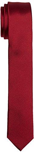 Calvin Klein Trend Slim 5 cm Cravatta, Rosso (Red), Taglia unica Uomo