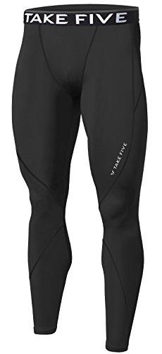 Pantalones deportivos de invierno para hombre, mallas de compresión con revestimiento térmico, pantalones largos