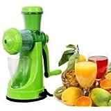 [Sponsored Products]Kuber Industries Juicer, Fruit & Vegetable Juicer, Manual Hand Juicer, Fruit Juicer Handel Vacuum Base (Green)-JUI01