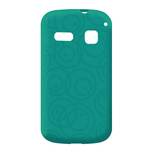 Acm Multi-Color Soft Silicon Back Case For Panasonic T31 Mobile Cover-Greenish Blue Round Designer  available at amazon for Rs.299