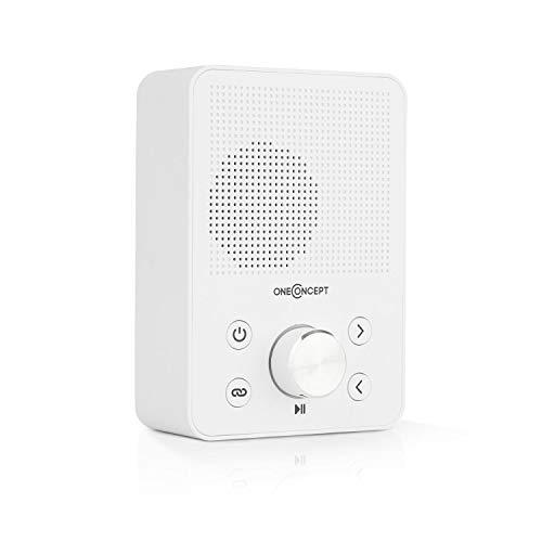 oneConcept Plug+Play FM - Steckdosen-Radio, Digitalradio, Plug-Radio, UKW-Tuner, USB-Port, Bluetooth-Funktion, automatische Sendersuche, platzsparend, Stecker EU- und UK-kompatibel, weiß