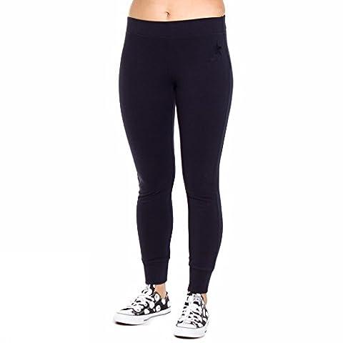 CONVERSE jumpsuit woman 10004894-A04 FLEECE PANT CLASSIC RIB LOGO XS