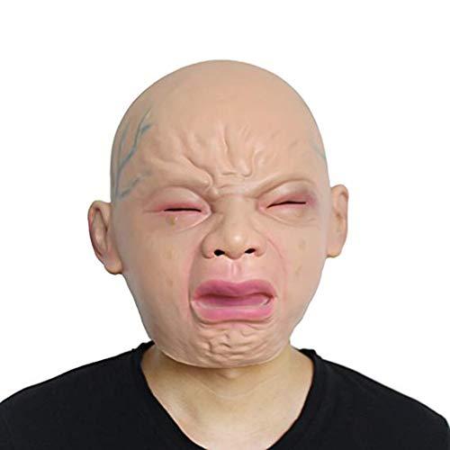 tex Halloween Karneval Ostern-Partei-Kostüm Menschliches Gesicht Gummi Full Face Masken Cosplay Maske ()