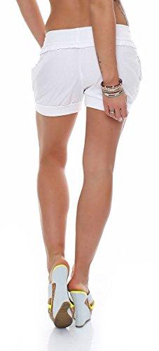 malito Damen Hotpants in Unifarben | lockere kurze Hose | Bermuda für den Strand | Pants