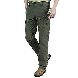 Yowablo Hose Schnell trocknende und lüftende Herren-Sporthosen mit verdickter Warmer (XL,2Armeegrün)