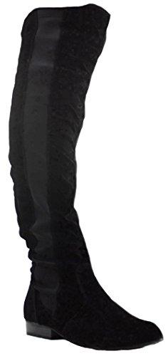 Style 2 Black Faux Suede Size 5