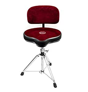 roc n soc red drum stool throne with base and back rest. Black Bedroom Furniture Sets. Home Design Ideas