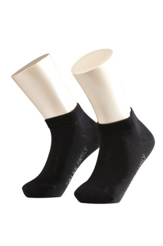 FALKE Unisex - Kinder Sneaker Socken 10631 Family Short SO, Gr. 23/ 26, Schwarz (black 3000)