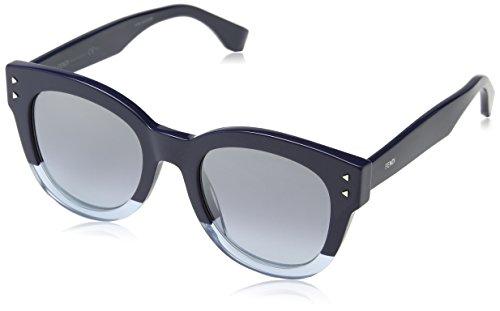 Fendi ff 0239/s go pjp, occhiali da sole donna, blu (bluette/grey azure silv), 50