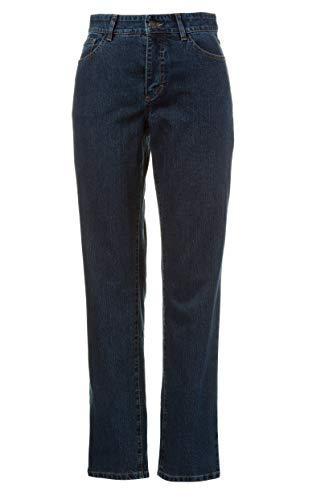 GINA LAURA Damen bis Größe 3XL | Jeans Carla | Komfortjeans in Kurz- und Normallänge | Slim-Fit | 5-Pocket-Form | darkblue 42 713172 93-42 - Fünf-knopf-petite Jeans