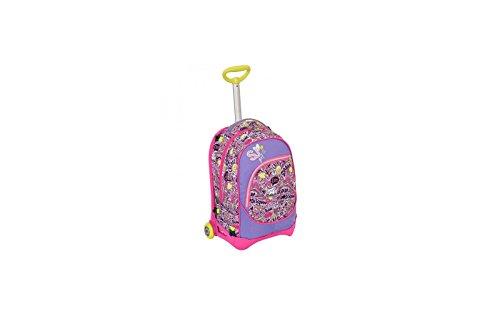 Trolley jack junior - sj gang - rosa viola - 28 lt sganciabile e lavabile - scuola e viaggio