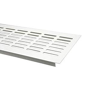 Aluminium Lüftungsgitter Stegblech Lüftung 100mm x 500mm in verschiedenen Farben (Weiss pulverbeschichtet)