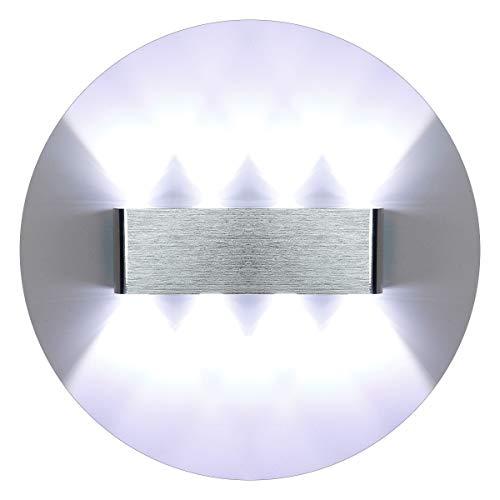 KAWELL Moderno Luz de Pared LED Apliques de Pared Aluminio Lámpara de Pared LED Interior para Dormitorio...
