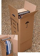 5 x Large Strong Wardrobe / Garment Double Wall Removal Boxes - cheap UK wordrobe store.