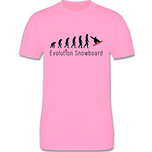 Evolution - Evolution Snowboard - Herren Premium T-Shirt Rosa