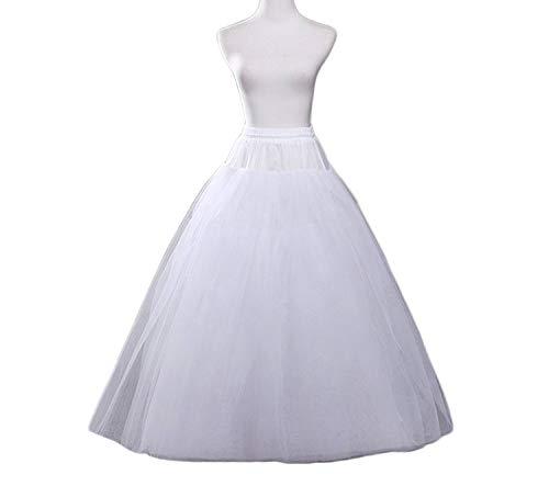 YASIOU Unterrock Petticoat Damen Weiß Lang Tüll Hochzeit Brautkleid Bodenlang Wedding...