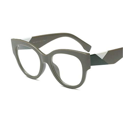 GBST Retro Round Frame Metal Leg Frame for Men and Women Photochromic Sun Visor Mirror Single Light Reading Glasses,Gray Green